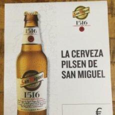 Coleccionismo de cervezas: SAN MIGUEL 1516 - CÁRTEL PÓSTER DE PAPEL - CERVEZA DE LLEIDA. Lote 243173560