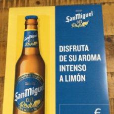 Coleccionismo de cervezas: SAN MIGUEL 00 RADLER - CÁRTEL PÓSTER DE PAPEL - CERVEZA DE LLEIDA. Lote 243184645