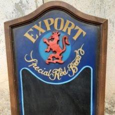 Coleccionismo de cervezas: ANUNCIO EN MADERA CERVEZA EXPORT AMBAR LA ZARAGOZANA ESPECIAL RED BREW. Lote 243186270