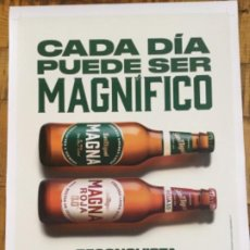 Coleccionismo de cervezas: SAN MIGUEL MAGNA - CÁRTEL PÓSTER DE PAPEL - CERVEZA DE LLEIDA. Lote 243193340