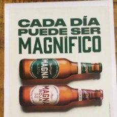 Coleccionismo de cervezas: SAN MIGUEL MAGNA - CÁRTEL PÓSTER DE PAPEL - CERVEZA DE LLEIDA. Lote 243193555