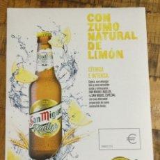 Coleccionismo de cervezas: SAN MIGUEL RASLER - CÁRTEL PÓSTER DE PAPEL - CERVEZA DE LLEIDA. Lote 243230665