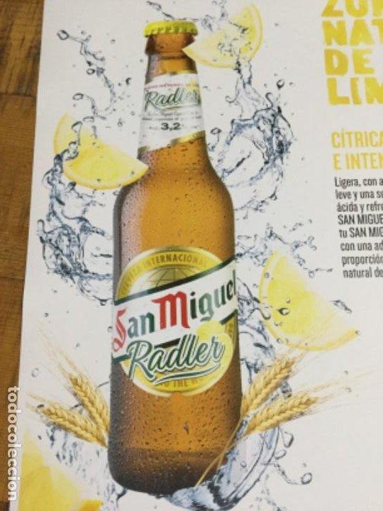 Coleccionismo de cervezas: SAN MIGUEL RASLER - CÁRTEL PÓSTER DE PAPEL - CERVEZA DE LLEIDA - Foto 2 - 243230665
