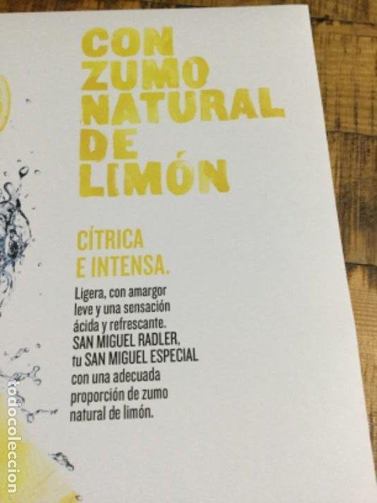 Coleccionismo de cervezas: SAN MIGUEL RASLER - CÁRTEL PÓSTER DE PAPEL - CERVEZA DE LLEIDA - Foto 3 - 243230665