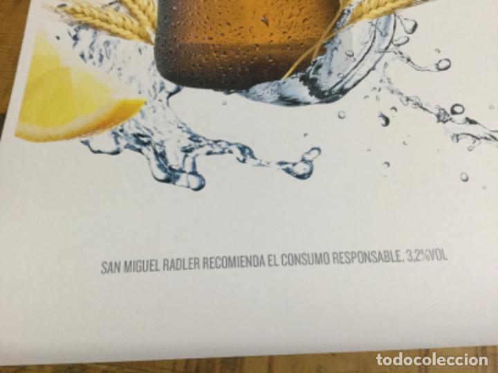 Coleccionismo de cervezas: SAN MIGUEL RASLER - CÁRTEL PÓSTER DE PAPEL - CERVEZA DE LLEIDA - Foto 4 - 243230665