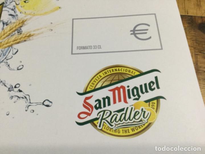 Coleccionismo de cervezas: SAN MIGUEL RASLER - CÁRTEL PÓSTER DE PAPEL - CERVEZA DE LLEIDA - Foto 5 - 243230665