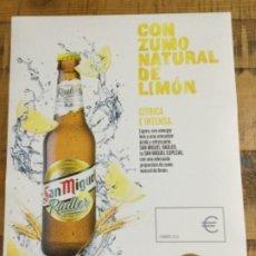Coleccionismo de cervezas: SAN MIGUEL RASLER - CÁRTEL PÓSTER DE PAPEL - CERVEZA DE LLEIDA. Lote 243232765