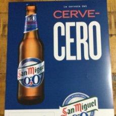 Coleccionismo de cervezas: SAN MIGUEL 00 - CÁRTEL PÓSTER DE PAPEL - CERVEZA DE LLEIDA. Lote 243234120
