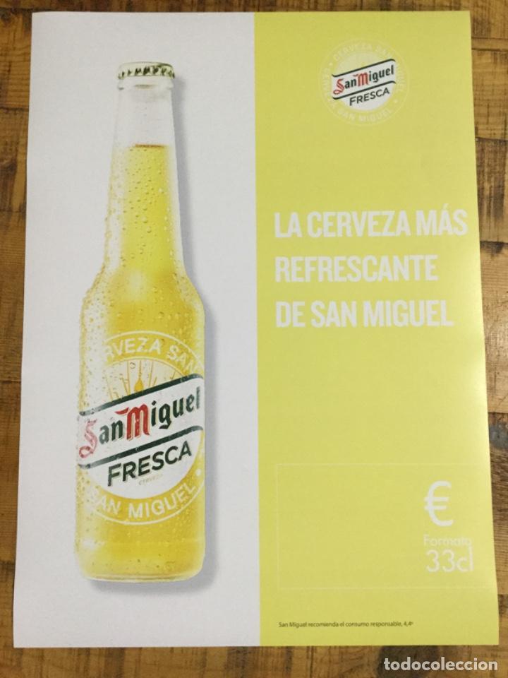 SAN MIGUEL FRESCA - CÁRTEL PÓSTER DE PAPEL - CERVEZA DE LLEIDA (Coleccionismo - Botellas y Bebidas - Cerveza )