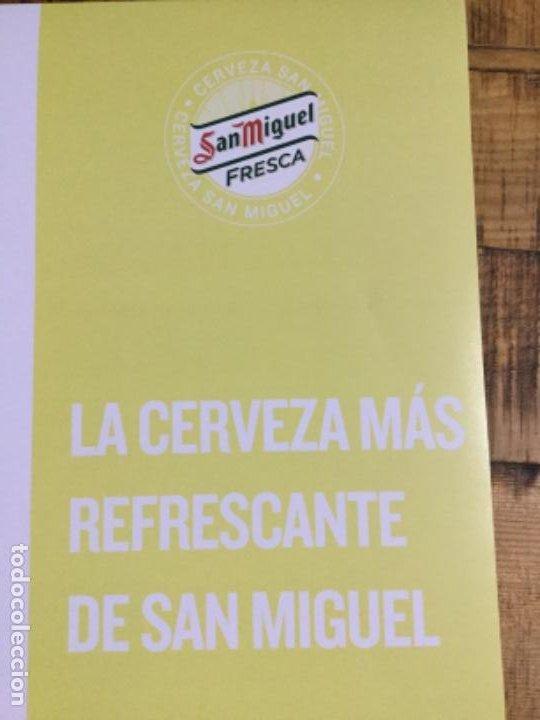 Coleccionismo de cervezas: SAN MIGUEL FRESCA - CÁRTEL PÓSTER DE PAPEL - CERVEZA DE LLEIDA - Foto 5 - 243235330