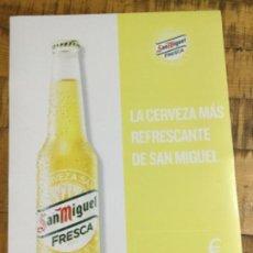 Coleccionismo de cervezas: SAN MIGUEL FRESCA - CÁRTEL PÓSTER DE PAPEL - CERVEZA DE LLEIDA. Lote 243236500