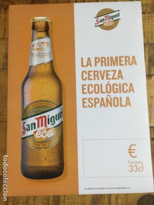 SAN MIGUEL ECO - CÁRTEL PÓSTER DE PAPEL - CERVEZA DE LLEIDA (Coleccionismo - Botellas y Bebidas - Cerveza )