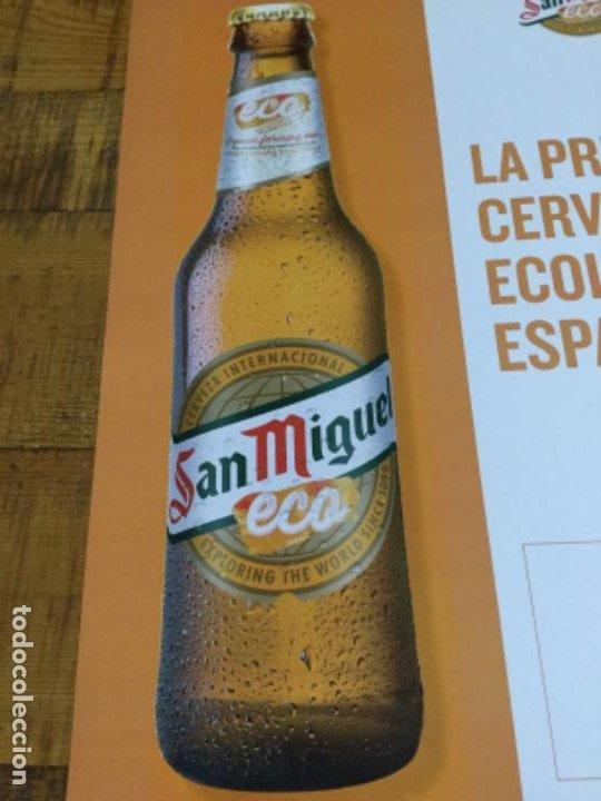 Coleccionismo de cervezas: SAN MIGUEL ECO - CÁRTEL PÓSTER DE PAPEL - CERVEZA DE LLEIDA - Foto 2 - 243239970