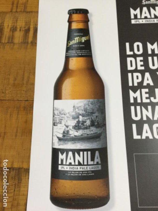 Coleccionismo de cervezas: SAN MIGUEL MANILA - CÁRTEL PÓSTER DE PAPEL - CERVEZA DE LLEIDA - Foto 2 - 243241790
