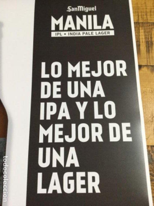 Coleccionismo de cervezas: SAN MIGUEL MANILA - CÁRTEL PÓSTER DE PAPEL - CERVEZA DE LLEIDA - Foto 3 - 243241790