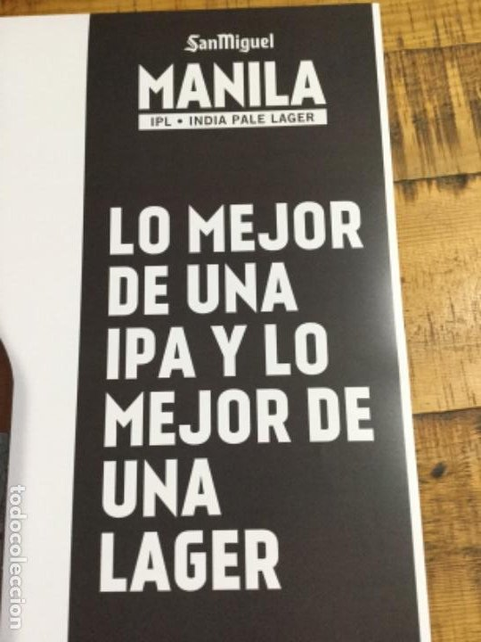 Coleccionismo de cervezas: SAN MIGUEL MANILA - CÁRTEL PÓSTER DE PAPEL - CERVEZA DE LLEIDA - Foto 3 - 243242515