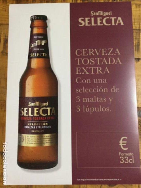 SAN MIGUEL SELECTA - CÁRTEL PÓSTER DE PAPEL - CERVEZA DE LLEIDA (Coleccionismo - Botellas y Bebidas - Cerveza )