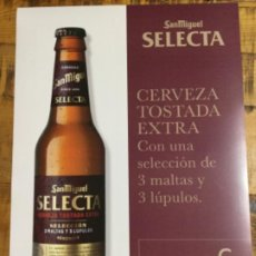 Coleccionismo de cervezas: SAN MIGUEL SELECTA - CÁRTEL PÓSTER DE PAPEL - CERVEZA DE LLEIDA. Lote 243243810