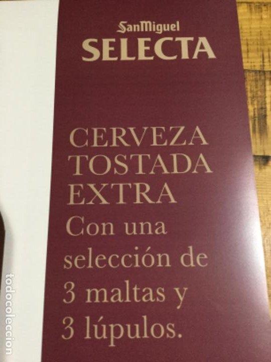 Coleccionismo de cervezas: SAN MIGUEL SELECTA - CÁRTEL PÓSTER DE PAPEL - CERVEZA DE LLEIDA - Foto 3 - 243243810