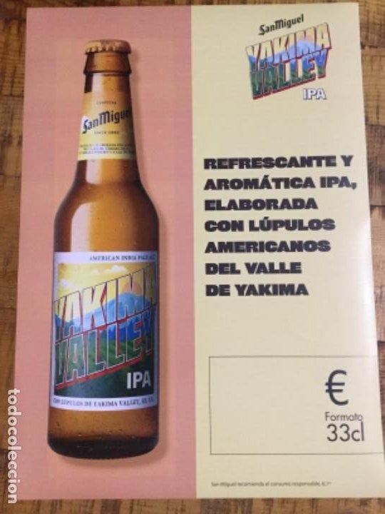 SAN MIGUEL YAKIMA VALLEY IPA - CÁRTEL PÓSTER DE PAPEL - CERVEZA DE LLEIDA (Coleccionismo - Botellas y Bebidas - Cerveza )