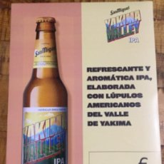 Coleccionismo de cervezas: SAN MIGUEL YAKIMA VALLEY IPA - CÁRTEL PÓSTER DE PAPEL - CERVEZA DE LLEIDA. Lote 243245260
