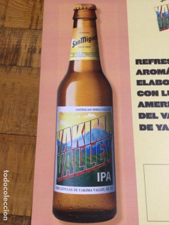 Coleccionismo de cervezas: SAN MIGUEL YAKIMA VALLEY IPA - CÁRTEL PÓSTER DE PAPEL - CERVEZA DE LLEIDA - Foto 2 - 243245260