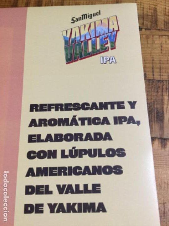Coleccionismo de cervezas: SAN MIGUEL YAKIMA VALLEY IPA - CÁRTEL PÓSTER DE PAPEL - CERVEZA DE LLEIDA - Foto 3 - 243245260