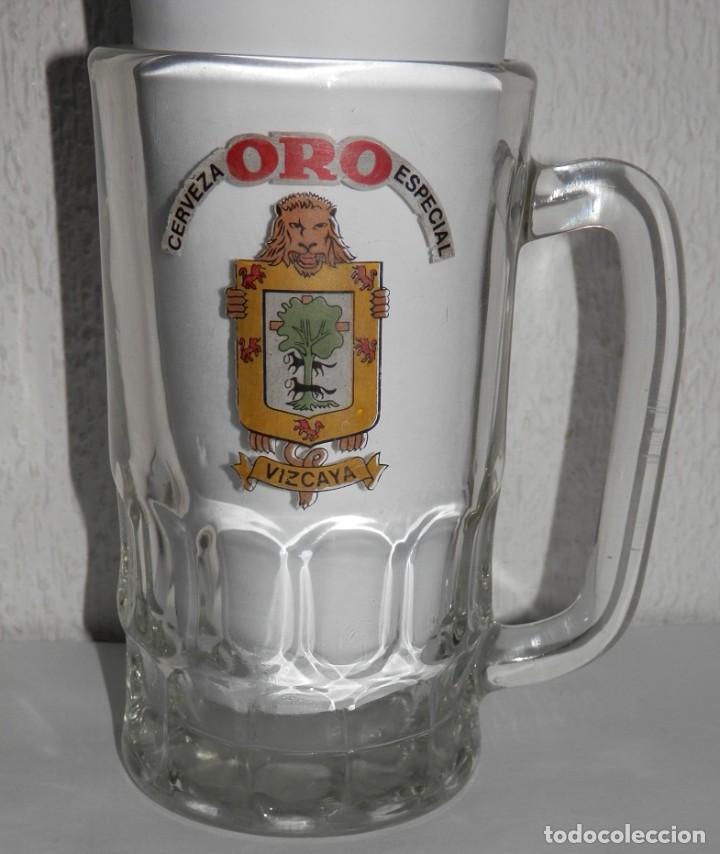 ANTIGUA JARRA DE LA CERVEZA ORO (Coleccionismo - Botellas y Bebidas - Cerveza )