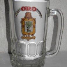Coleccionismo de cervezas: ANTIGUA JARRA DE LA CERVEZA ORO. Lote 243292980