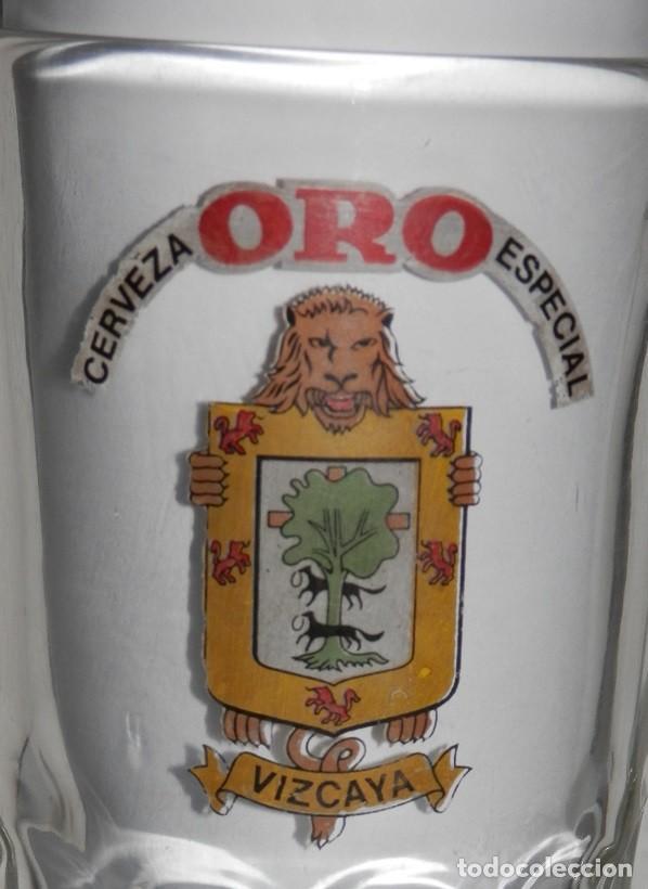 Coleccionismo de cervezas: ANTIGUA JARRA DE LA CERVEZA ORO - Foto 2 - 243292980