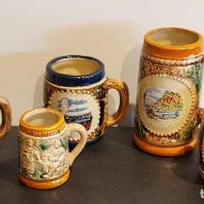 Coleccionismo de cervezas: 5 JARRITAS DE CERVEZA EN MINIATURA / LAUSANNE-FREIBURG-GENEVE-RÜDESHEIM Y LORELEY.. Lote 243392985