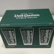 Coleccionismo de cervezas: CAJA DE VASOS VOLL-DAMM 0,33CL. Lote 243924475