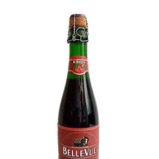 Coleccionismo de cervezas: BOTELLA LLENA CERVEZA BELGA KRIEK AÑO 1997. Lote 243979690