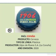 Collectionnisme de bières: TAPON CORONA CHAPA BOTTLE CAP KRONKORKEN TAPPI CAPSULE - CERVEZA 1906 GALICIAN IRISH (ESPAÑA). Lote 244549735