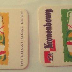 Coleccionismo de cervezas: 2 POSAVASOS DE CERVEZA - KRONENBOURG. Lote 245359335