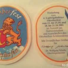 Coleccionismo de cervezas: POSAVASOS DE CERVEZA- LUDWIGSHAFENER. Lote 245359740