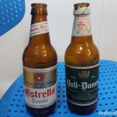 Coleccionismo de cervezas: LOTE DE 2. BOTELLA ESTRELLA DAMM Y VOLL DAMM. 30 CL. BARCELONA 92. PATROCINADOR OFICIAL.. Lote 245367450