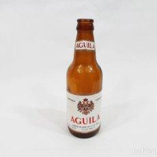 Coleccionismo de cervezas: BOTELLIN DE CERVEZAS EL AGUILA DE 33 CL CON ETIQUETA DE PAPEL - CERVEZA DORADA. Lote 245737270