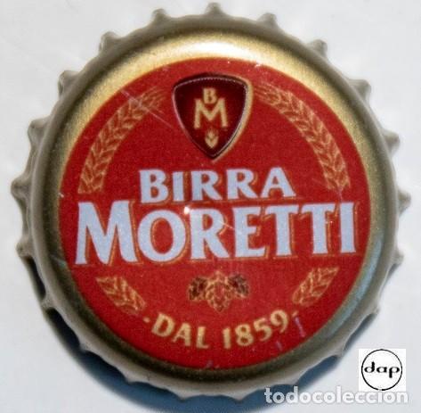 TAPÓN CORONA - CHAPA - ITALIA - CERVEZA - MORETTI DAL 1859 - INTERIOR COLOR VERDE (Coleccionismo - Botellas y Bebidas - Cerveza )