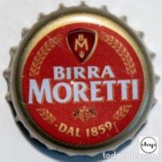 Coleccionismo de cervezas: TAPÓN CORONA - CHAPA - ITALIA - CERVEZA - MORETTI DAL 1859 - INTERIOR COLOR VERDE. Lote 245904355