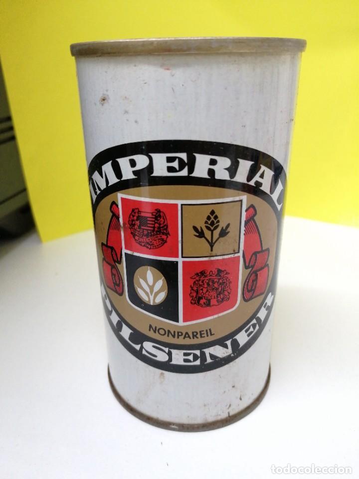 LATA DE CERVEZA ESTADOS UNIDOS DE AMÉRICA USA ACERO RECTO BEER IMPERIAL NONPAREIL (Coleccionismo - Botellas y Bebidas - Cerveza )