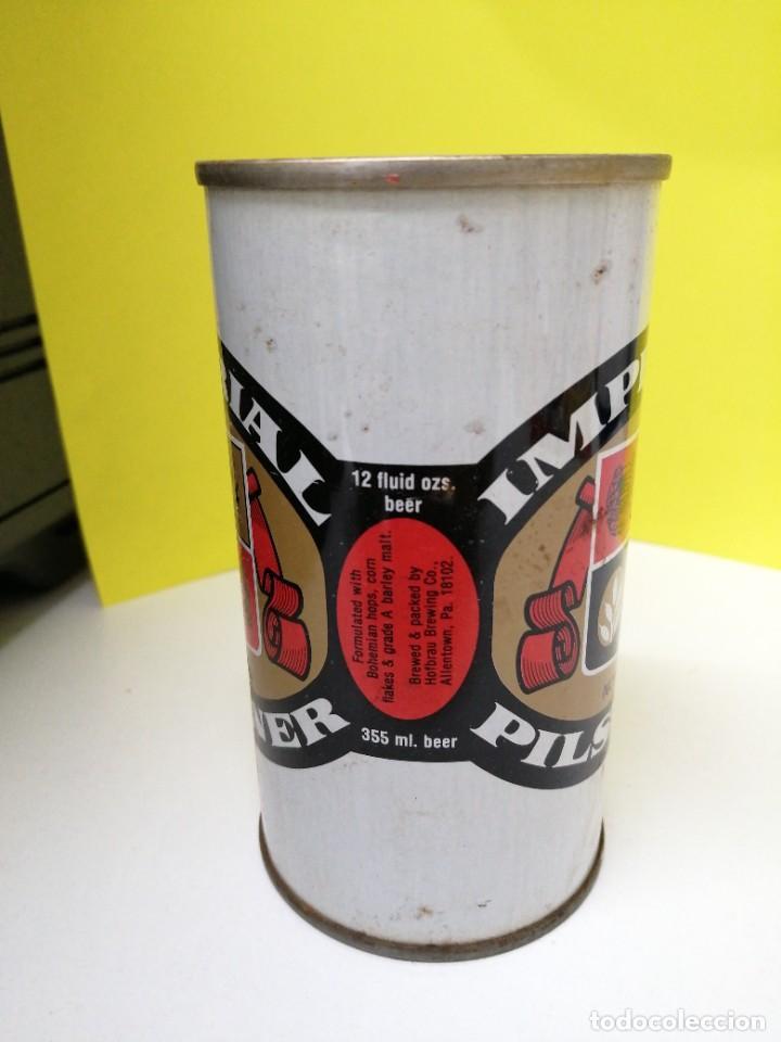 Coleccionismo de cervezas: Lata de cerveza ESTADOS UNIDOS DE AMÉRICA USA acero recto beer IMPERIAL NONPAREIL - Foto 2 - 246050060