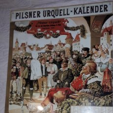 Collezionismo di birre: COLECCIONISMO CERVEZA - PLACA METÁLICA PUBLICITARIA 'PILSNER URQUELL' - KALENDER 1906 (38 X 59 CMS.). Lote 246287015