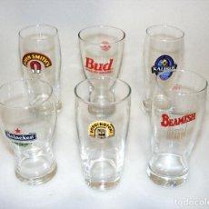 Coleccionismo de cervezas: (01) 6 VASOS DE CERVEZA DE COLECCIÓN - NUEVOS - VER FOTOS DETALLE.. Lote 246571395