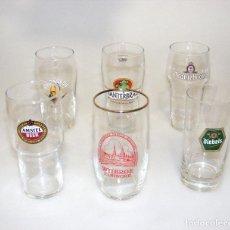 Coleccionismo de cervezas: (02) 6 VASOS DE CERVEZA DE COLECCIÓN - NUEVOS - VER FOTOS DETALLE.. Lote 246578010