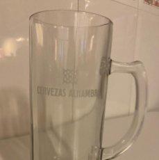 Coleccionismo de cervezas: JARRA DOBLE CERVEZA ALHAMBRA. Lote 246590665