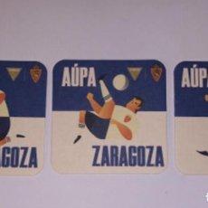 Collezionismo di birre: 3 POSAVASOS CERVEZA AMBAR REAL ZARAGOZA EDICIÓN LIMITADA. Lote 292127528