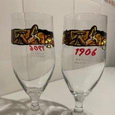 Coleccionismo de cervezas: 2 COPAS CERVEZA 1906. Lote 247498995