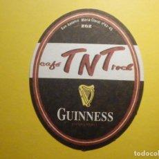 Coleccionismo de cervezas: POSAVASOS CERVEZAS GUINNESS - PERSONALIZADO CAFÉ TNT ROCK - SAN ANTONIO MARÍA CLARET, ZARAGOZA. Lote 248111700