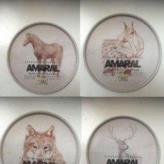 Coleccionismo de cervezas: LOTE DE 4 POSAVASOS DE AMARAL. EDICIÓN ESPECIAL DE LA ZARAGOZANA. 2011. Lote 248795630